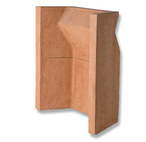 "Clay 16"" Solid Milner Fireback"